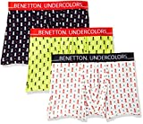 United Colors of Benetton Men's Printed Boxers (Pack of 3) (19P3P80BP33DI_901_M_Multicolor_M)