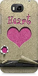 Amez designer printed 3d premium high quality back case cover for Huawei Honor Bee (Heart Paper Cutting)