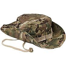 Westeng, boonie hat, cappello a tesa larga da pescatore, forma rotonda, protezione solare, per outdoor, arrampicate, tattica camuffamento, da uomo e donna, Camouflage
