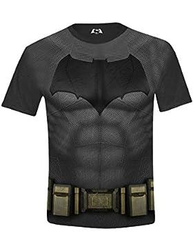 Batman V Superman Batman Body Costume Full Printed, Camiseta para Niños