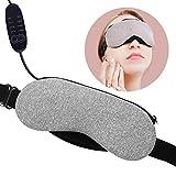 Beheizte Schlafmaske, VINDAR Baumwolle Augenmaske, Erwärmen Nachtmaske, Elektrisches USB erhitzt, Einstellbare Temperaturregelung, Entworfen um Entlasten Blepharitis, Trockenes Auge, Stress, Müde Augen, Geschwollene Augen