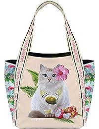 Sac shopping Téo Jasmin Medium - Jasmine Tropical