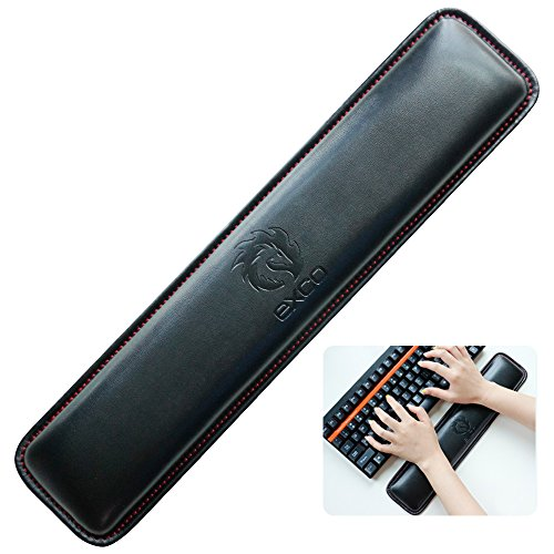 Tastatur Handgelenkauflage pad-exco Handgelenk liegt, Memory Foam rutschfeste Schwarz PU Leder Palm Support Wrist Pad Handgelenk Kissen für Laptops/notebooks/Mac Book//PC/Computer×2.5cm)
