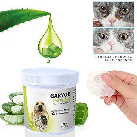 GARYOB Augen-Reinigungspads für Hunde und Katzen 100 Stück, Milde Augen-Reinigung ohne zu Reizen, Entfernt sanft…