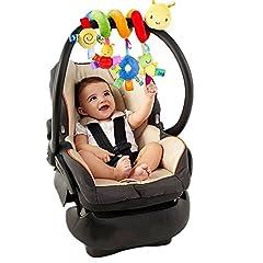 Idea Regalo - YOUFAN bambino bambini Crib Culla carrozzina giocattolo appeso sede Sonagli Spirale passeggino auto con squilla Bell
