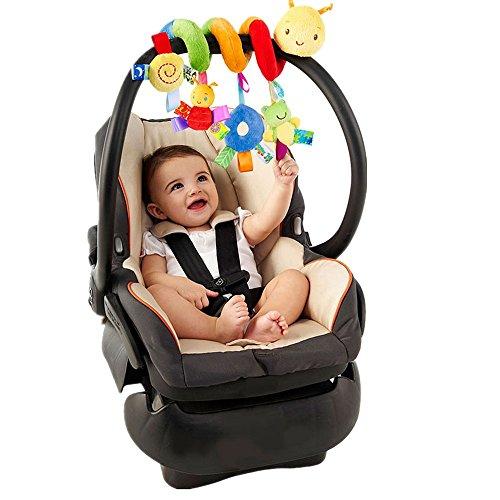 Youfan bambino bambini crib culla carrozzina giocattolo appeso sede sonagli spirale passeggino auto con squilla bell