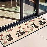 Alicemall Alfombra Antilizante Felpudos Originales 50*140cm Rosa con Gatos Felpudo Entrada para Sala o Mascota