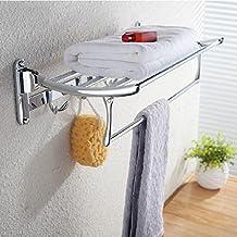 SAEJJ-Muebles de acero inoxidable plegable Toallero Toallero Toallero, toallero Balcon Baño actividades,40cm