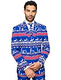 Opposuits Fun Christmas Suits in Different Prints- Full Set: Jacket, Pants and Tie