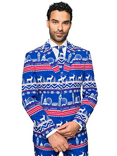 Opposuits Weihnachtsanzüge für Herren Lavish London - besteht aus Sakko, Hose und Krawatte