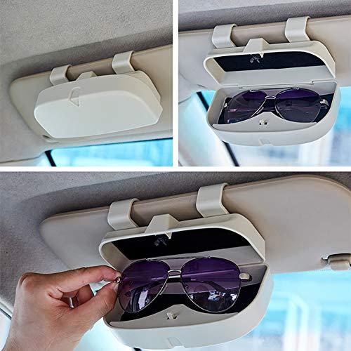 Auto Brillenetui,Universal Sonnenbrillenhalter Brillenetui Brillen Halter Auto Sonnenbrillenhalter Ersatzteile Brillenfach Ablage Brillenetui mit Kartensteckplätze für Auto Sonnenblende