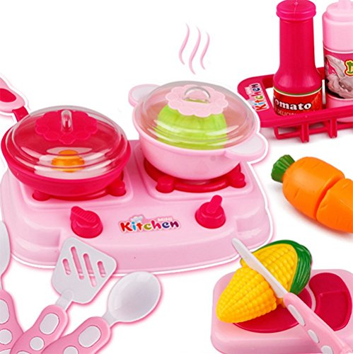 iTemer 15PCS Kitchen Pretend Play Food ,Cutting Vegetables Food Toys Children Educational Toy Set Girl Gift
