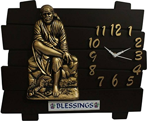 ROYSTAR ANALOG GOD'S WALL CLOCK (SAI BABA JI)
