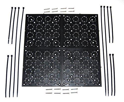 aus den Augen Klammern Universal, verstellbare Halterung Kit Mit Kabel Organizer für Flat Panel TV, unter Schreibtisch Draht, Management, Verstecken Bindekordeln & More 4er Pack (schwarz) Universal Flat-panel Tv