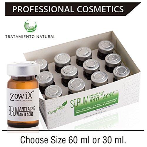 Anti Pickel und Anti akne behandlung. Anti Akne Serum natürliches dass reduzieren Sie Pickel und Mitesser. Gesichtsserum zur Akne Bekämpfung. Probieren Sie es und Akne Probleme. 60 ml.