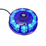 T Tocas (TM) di alta qualità LED rotonda luci stroboscopiche Bar con una forte base magnetica per incendio del veicolo barca Tetto, 12V, 7 Patterns lampeggiante (blu)