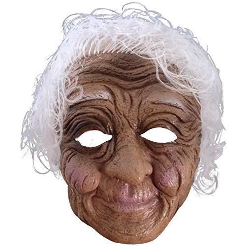 Maske alte Frau Oma Greisin Großmutter Uroma Omamaske Halbmaske Faschingsmaske
