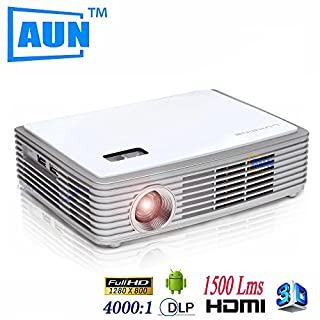 ARBUYSHOP AUN HD 4k Chip Projector 3D LED Projector DLP + 3D Glasses Support Blueray with Android4.4.2 OS WIFI Bluetooth4.0 Z2000SDG5