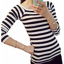 ad45dc07888e8b HUIHUI Damen Mode Baumwolle Blusen Lose Elegant T Shirt O-Ausschnitt Slim  Fit Blusenshirt Plus