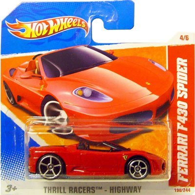 2011 Hot Wheels Red FERRARI F430 SPIDER #190/244, Thrill Racers Highway #4/6 (Short Card) by Hot Wheels