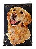 Key Racks Golden Retriever Dog Gift–Einzigartige Handarbeit Holz Hundeleine Halter. Größe ca. 20,3x 12,7cm