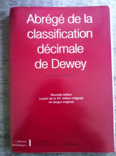 Abrégé de la classification décimale de Dewey