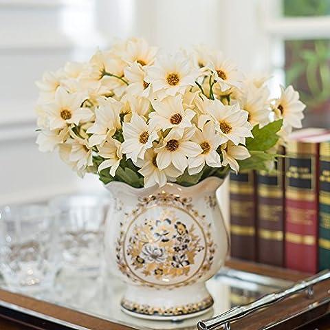 Continental Risse Keramik Vasen kleine kreative Classic home Wohnzimmer Schlafzimmer Sitzbank , Blume 4 m weißen Strahl goessens Ju