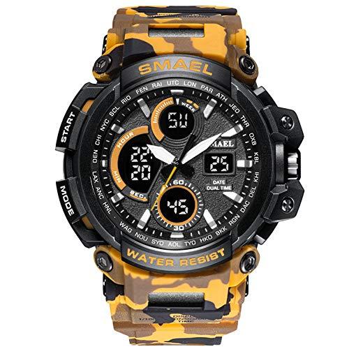 UINGKID Collection Unisex-Armbanduhr Herren Uhren Ultra Dünne SMAEL Herren-Sportuhr Dual-Analog-LED-Armbanduhr mit Digitalanzeige