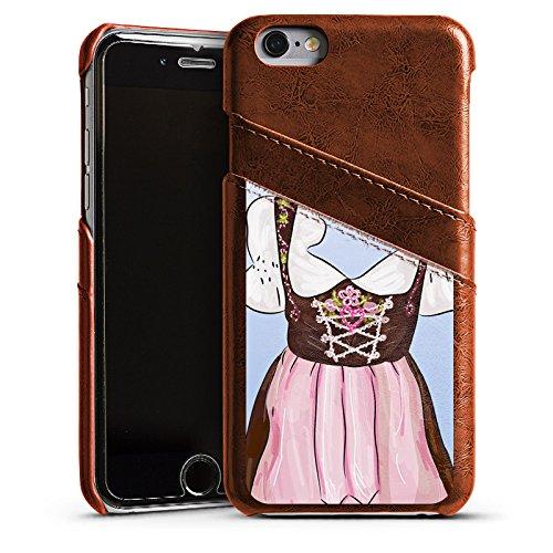 Apple iPhone 6 Housse Étui Silicone Coque Protection Fête de la bière Costume tyrolien Motif Étui en cuir marron