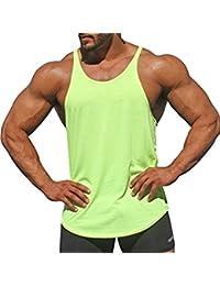Juleya Camiseta Sin Mangas Sin Mangas para Hombre Camiseta Sin Mangas Stringer Muscle Workout