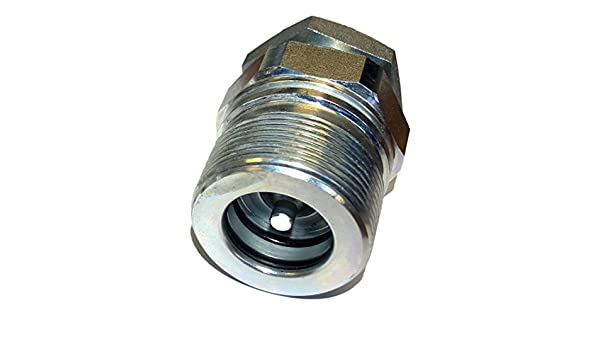 male Manuli 1 screw type hydraulic quick release coupling truck HGV tipper BSP thread