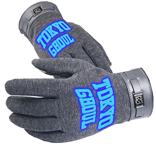 Bromeo Tokyo Ghoul Anime Hiver Chaud Lumineux Écran Tactile Gants Gloves Mittens Gris 9