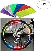 2 X Fahrrad Speichen Reflektoren Warnleuchte Radfelge Reflektierend Halterung