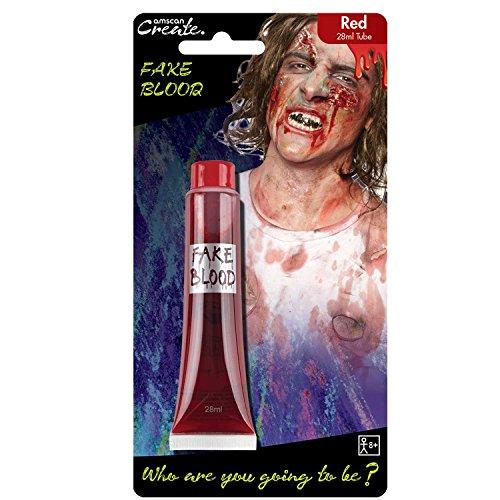 rot Fake Blut Tube 28ml (Erstaunlich, Schminken Für Halloween)