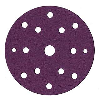 60 Stück Schleifscheiben 150 mm Ø I Schleifpapier mit Körnung je 10x 40/60/80/120/180/240 Schleifpapier für den Exzenterschleifer 15 Loch