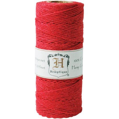 Bobine de corde de chanvre 20 # 205'/ Pkg-rouge