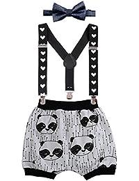 Bébé Enfants Shorts Bloomer Imprimé Animaux Salopette Bretelle Pince Y-Back  Réglable Cravate Nœud Papillon 0f12c7d4649