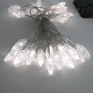 AIURLIFE 30led bianca a LED per esterni leggiadramente solare Luci di Natale Decor doni lampada (Bianca Leggiadramente Solare Luce)