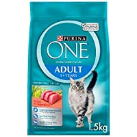 Purina One Adult Cat Food with Tuna 1.5Kg(Pack of 1)