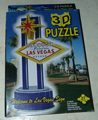 3D Puzzle - Welcome To Fabulous Las Vegas Nevada Sign - Souvenir Model by 3D Puzzle