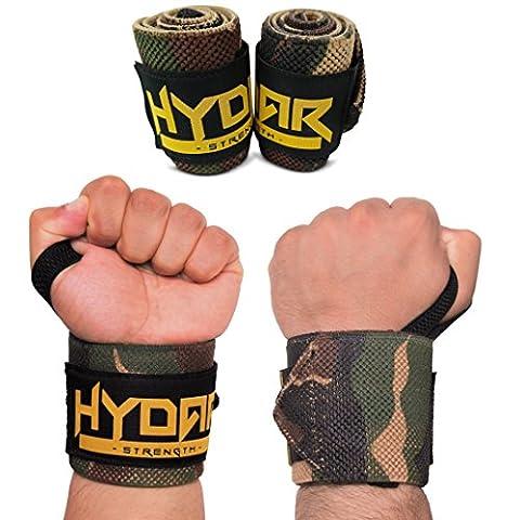 Premium Heavy Duty Camo Wrist Wraps – Power Wraps with