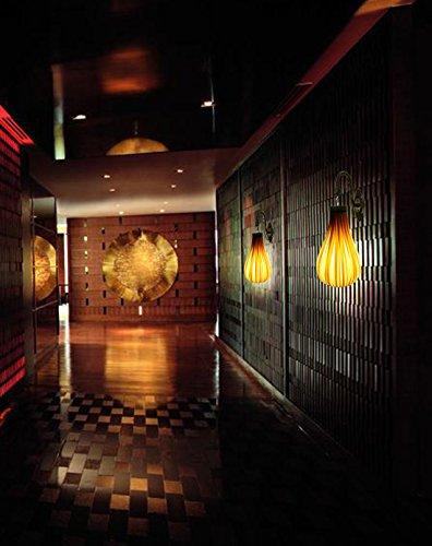 BESPD Modernes, minimalistisches Idyllische Südostasiatischen kreative Furnier 2313 Wandleuchte für Wohnzimmer Restaurant Flur Treppe Schlafzimmer Bett Lampen: Eiche 44 * 50 Leder - Leder Traditionellen Bett
