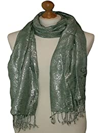 MINT scarf with all over butterfly print design 826-171 (MINT)
