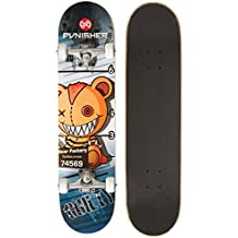 Punisher Skateboards Guilty 31-Inch Double Kick Concave Complete Skateboard