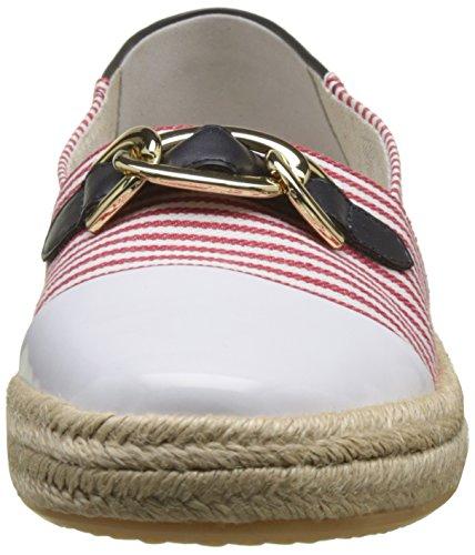 Geox Modesty e, Scarpe da Ginnastica Basse Donna Rosso (Red/white)