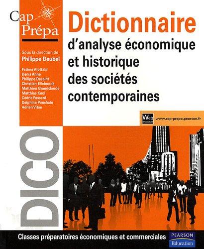 Dictionnaire d'analyse économique et historique des sociétés contemporaines par Philippe Deubel, Collectif