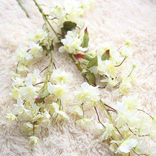 Preisvergleich Produktbild Dragon868 Künstliche Gefälschte Kirschblüte Seidenblume Braut Hortensien Hausgarten Decor (A,  Künstliche Blume)
