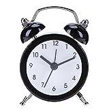 Réveil Métal à Double Cloche,vanpower Portable coloré mini numéro de dessin animé numérotation Bureau rond enfants réveil en métal