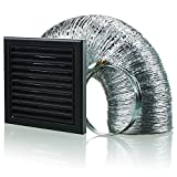 Blauberg UK bb-chk-100–3-vsbl 100 mm Dunstabzugshaube Duct Vent Kit Fan Extractor – Schwarz