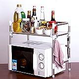 Seasofbeauty estante para cocina microondas Services especias mueble de almacenaje soporte acero inoxidable, 1 étage, 53 cm